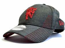 MAN UTD NEW ERA SHADOWTECH PERF CHARCOAL 9FORTY STRAPBACK CAP NEW 2019