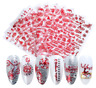 Christmas Nail Art Water Decals 3D Nail Stickers Transfers Snowflakes Bauble