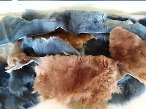 SALE 33% OFF 1kg Natural Colours Quality Sheepskin Off-Cuts, Rug Making,Crafting