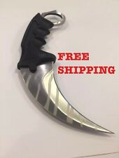Csgo Karambit Knife Real Knife Counter Strike Global Offence Silver Tiger Tooth