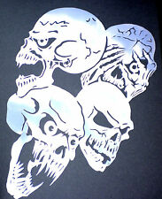 high detail airbrush stencil skullgroup nine FREE UK POSTAGE