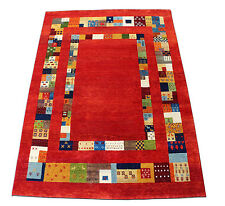 4' x 6' French Field Gabbeh 100% Woollen Hand Knotted Rug & Carpet