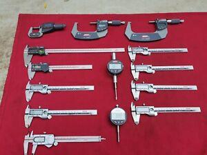 Job Lot of Digital Verniers Micrometers Etc all For Spares & Repair See Below.