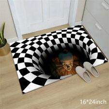 Halloween Mat Home Carpet Clown 3D Manhole Cover Horror Floor Mat Decor Party Us