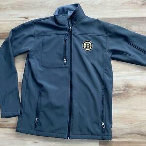 NHL Boston Bruins Gray Soft-shell Windbreakers Jacket Size Men's Medium