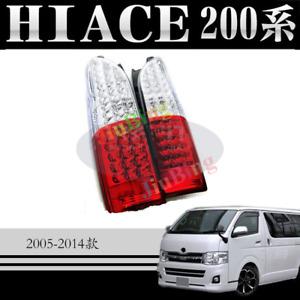 Clear LED Brake Lamp Tail Lighs For TOYOTA Hiace 200 Commuter LWB Van 2005-2017