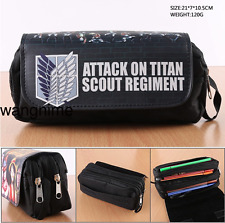 Attack On Titan Scouting Legion Pencil Case Stationery Bag Pouch Cosmetic Bags