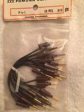 Pomona P-4-1, Pin Tip Plug Patch Cord. Brown-qty 10