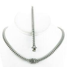 & Chain 24'' Anti-Tarnish Stainless Steel 6mm Miami Cuban Link Bracelet 9''