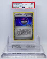 Pokemon EX DELTA SPECIES MASTER BALL #99 REVERSE HOLO FOIL CARD PSA 9 MINT #*