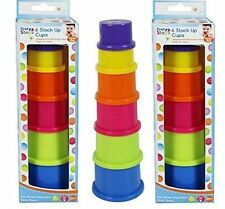 First Steps 6 Stack Up Cups Baby Toy Perfect Gift Present  ideal For 6 Months+