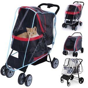 Cat Dog Pet Carrier Stroller Travel Cart Rainproof Dustproof Jogger Supply Cover