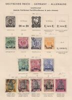 GERMANY - OFFICES IN TURKEY - MINT & USED COLLECTION REMOVED FROM PAGES - V485