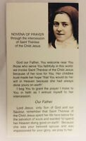 Saint Therese of Lisieux/St Therese of the Child Jesus Novena + Prayer Card, New