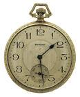 RARE Vintage E. Howard 14K White Gold Pocket Watch 10s 44mm 21j Boston