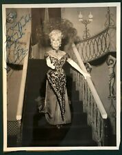 BETTY GRABLE later in life signed 8x10