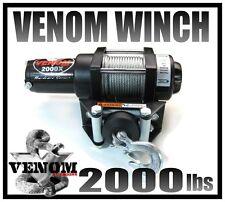 VENOM ATV WINCH 2000LB BRAND  WATERPROOF KIT RT 2000 LB