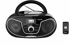 More details for roxel rcd-s70bt boombox cd player with bluetooth, remote control, radio