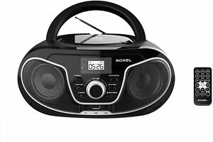 Roxel RCD-S70BT Boombox CD Player with Bluetooth, Remote Control, Radio