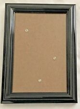 """Metal Black 5X7"""" Rounded Picture Frame - Holds 4X6"""" Photo"""