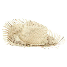 Beachcomber Mens Straw Hat For Hawaiian Tropical Beach Fancy Dress Party