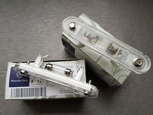 2x Genuine Mercedes-Benz W124 W201 license number plate light A124820025664