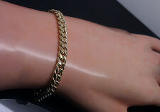 "Box Lock 10K Yellow Gold 5mm 8.6 Gram 9 "" Miami Cuban Link Bracelet Rope,Franco"