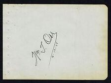 """William T. Orr (d. 2002) signed autograph 4.5x6.5 Album Page """"The Mortal Storm"""""""