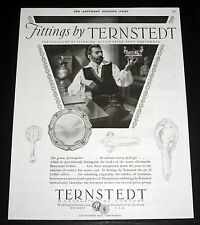 1928 OLD MAGAZINE PRINT AD, AUTOMOBILE FITTINGS BY TERNSTEDT, EQUIPMENT, ART!