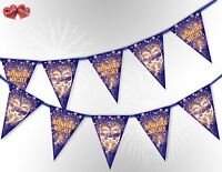 Bonfire Night the Guy Fawkes Mask mix 5th of Nov Bunting Banner by PARTY DECOR
