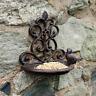 Vintage Cast Iron Hanging Garden Bird Feeder Wild Bird Feeding Station Bath Seed