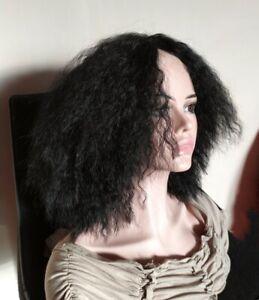 Perruque cheveux afro crépus noire effet naturel