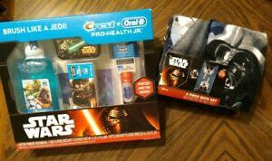 Star Wars Bath Towel Set, Oral B. Hygiene Disney Darth Vader Troopers C3PO