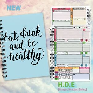 HDE/ Track Habits Health Feelings Quotes  Wellbeing Planner Log Journal Book 💃
