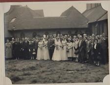 Vintage wedding photograph group  'Hall' family collection - Walsall   yg33
