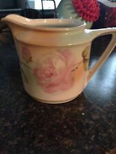 Antique O C German Hand Painted Rose Creamer Pitcher