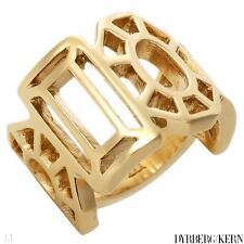 DYRBERG/KERN of DENMARK! Kaleidoscope Collection Shiny Gold Finish StSl Ring