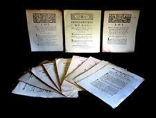 [DROIT - Décret de la Convention - MARINE] 12 Décrets de la Convention. 1792.