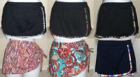 NEW CAPTIVA black trim or multi swim skirted bikini bottom pant,M/10,L/12,XL/14
