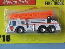 Matchbox Ladder Fire Engine Cuerpo Blanco Naranja Escalera De Rescate En Bp