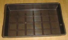 Nr.408-Schalen 30x20x4,5cm, mit Siebboden, braun, 5 Stück