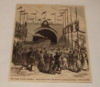 1880 magazine engraving ~ MONT ST. GOTHARD TUNNEL, Switzerland