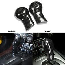 Carbon Fiber Gear Shift Knob Head Cover Trim Decor For Chevrolet Camaro 2010-15