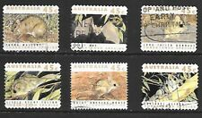 1992 Australia full set of 6 stamps featuring threatened species that are used.