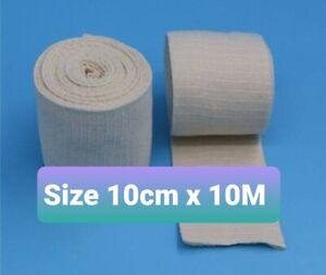 Size F (10cm) LatexFree Elastigrip Tubular Bandages - Natural - 10 Mtrs