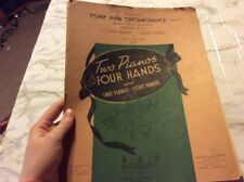 Two Pianos Four Hands Pop and Circumstance no. 1 eight Hands Sheet Music