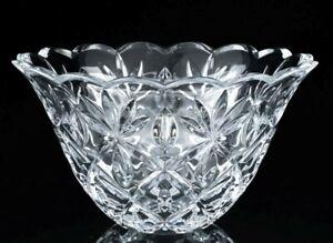LARGE WATERFORD IRISH CRYSTAL CUT GLASS SARA PATTERN CENTERPIECE SERVING BOWL