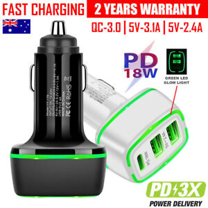 PD USB Type C Fast Charging Car Charger  iPhone 12 11 Pro Max XS XR 7 8 6 Plus
