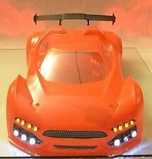 RC Hobao Hyper VTE 1/8 Body OP-0130 with custom LED Light Set Flouescent Orange
