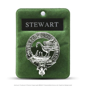 Clan Stewart Scottish Crest Badge Brooch Pin for Clothes Costume Gift Souvenir